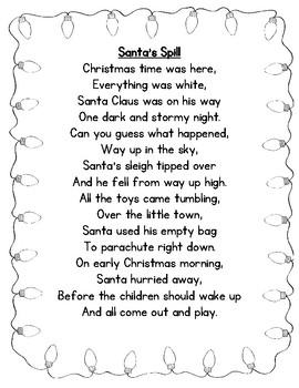 Santa's Spill Poetry Center Pack