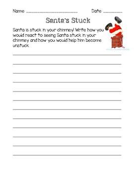 Santa's Stuck Writing