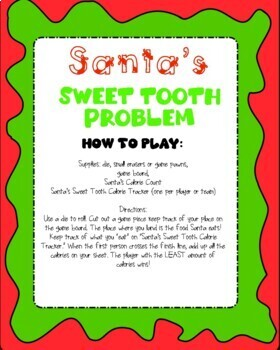 Santa's Sweet Tooth Christmas Problem Solving Math Games