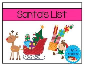 Santa's List - Matching Game