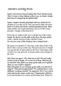 Santa's Untidy Elves - A Christmas Activity Lesson