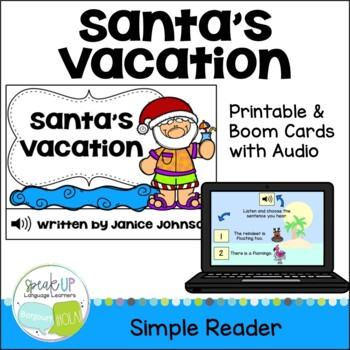 Santa's Vacation Reader & Vocab pages ~ Simplified for Young Learners