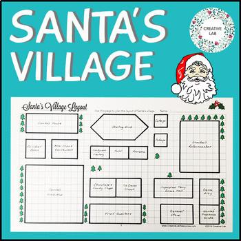Santa's Village Design - Area & Perimeter - Christmas Math
