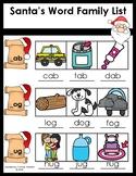 Santa's Word Family List