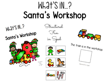 Santa Workshop Adapted Book for Preschool, Pre-K and Special Needs
