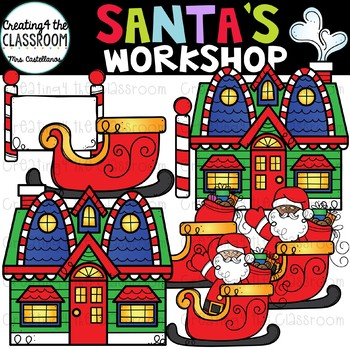 Santa's Workshop Clip Art {Christmas Clip Art}