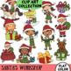 Santa's Workshop Clip Art part of the Winter Wonderland Series