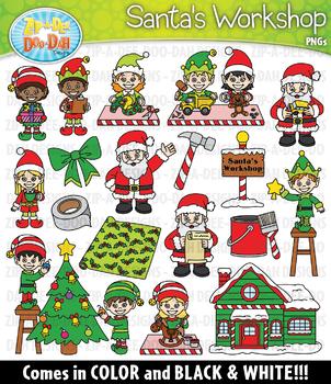 Santa's Workshop Clipart Set — Includes 40 Graphics!