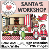 Santa's Workshop Clipart by Clipart That Cares