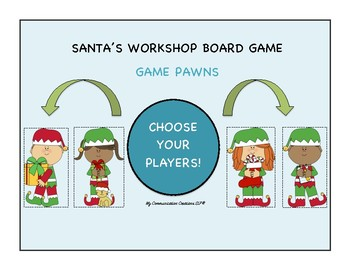 Santa's Workshop: Customizable Board Game - SLP - Articulation Therapy & More!