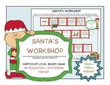 {Santa's Workshop} Carryover Level Board Game for Articula