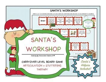 Santa's Workshop: Customizable Board Game - SLP - Articula