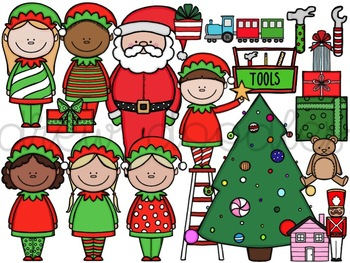 Santa's Workshop Digital Clip Art Set