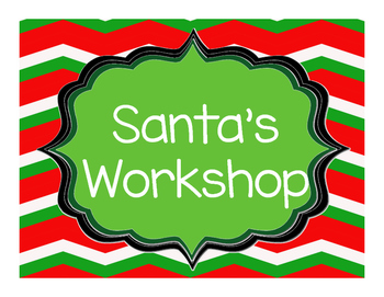 Santa's Workshop Dramatic Play Centre, Christmas Holiday Kindergarten Fun