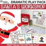 Santa's Workshop Dramatic Play Pack | Christmas Themed Pretend Play Printables |
