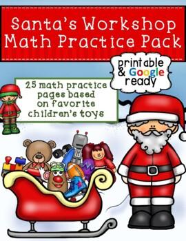 Santa's Workshop Math Practice Pack