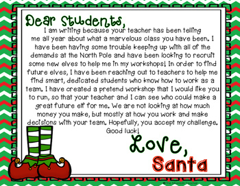 Santa's Workshop Math Project - Project Based Learning