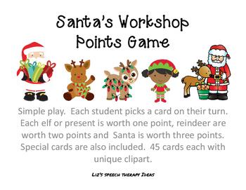 Santa's Workshop Points Game by Liz Haider   Teachers Pay Teachers