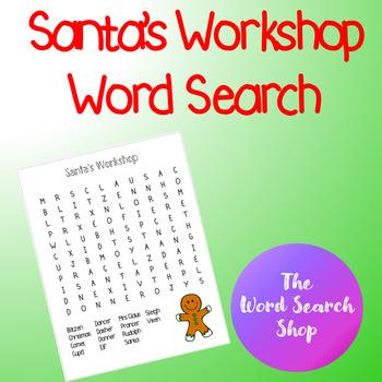 Santa's Workshop Word Search