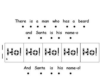 Santa song book