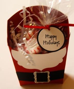 Santa treat holder! (set of 12)