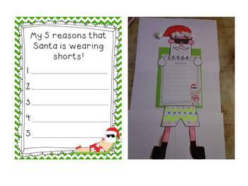 Santa wear your shorts! - Writing and Craft
