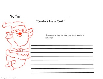 Santa wears a new suit: Christmas writing prompt
