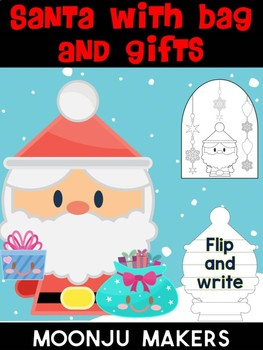 Santa with Bag and Gifts - Moonju Makers for Activities, Craft, Decor, Writing