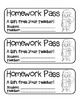 """""""Santa with Presents"""" Homework Pass –Holiday FUN! (full color & black line)"""