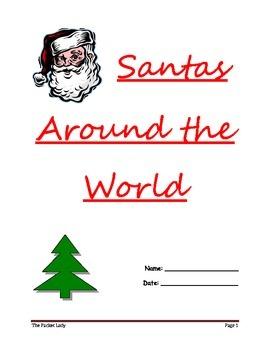 """Santas Around the World"" - 5 Paragraph Essay - Scaffolded Writing Program"