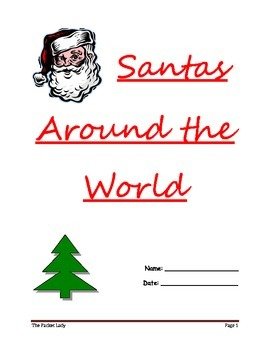 """Santas Around the World"" - 5 Paragraph Essay - Scaffolded Writing Program"