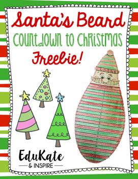 Days Until Christmas Printable.Santa S Beard Countdown To Christmas Freebie