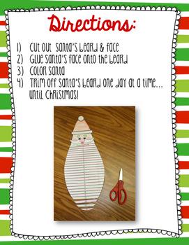 Santa's Beard Countdown to Christmas FREEBIE!