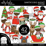 Santa's Big Night Clipart {A Hughes Design}