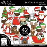 Santa's Big Night Clipart {A Hughes Design}