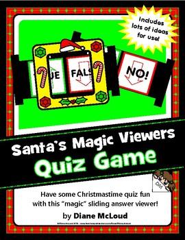 Santa's Magic Answer Slide Viewers - an easy, fun quiz format!