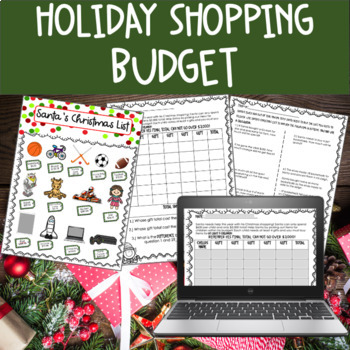 Christmas Math Santa's Budget and Word Problems