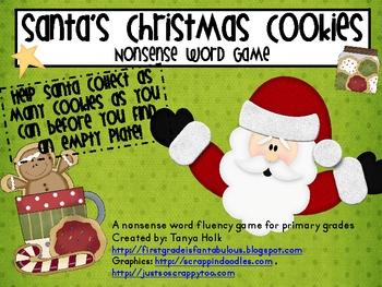 Santa's Christmas Cookie Nonsense Word Fluency Game