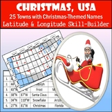 Latitude and Longitude Worksheet - Christmas, USA