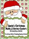 Santa's Christmas Math and Literacy Centers