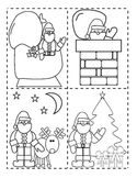 Santa's Christmas Night Sequence of Events Activity Cut, Glue and Write