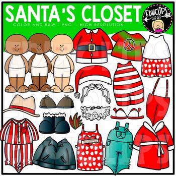 Santa's Closet Clip Art Bundle {Educlips Clipart}