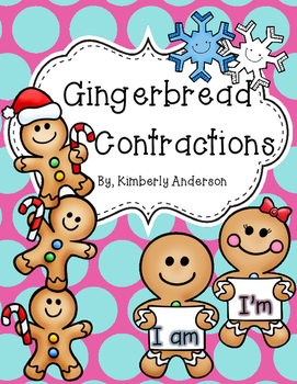 Gingerbread Contractions Match