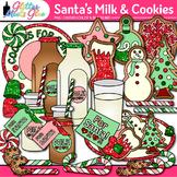 Santa's Milk & Christmas Cookies Clip Art {Snowman, Orname