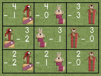 Santa's Elf Race-- Subtraction to 10 Game