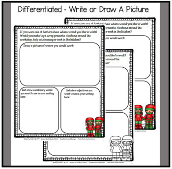 December Narrative Writing- Working Santa's Workshop