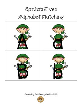 Santa's Elves Alphabet Matching
