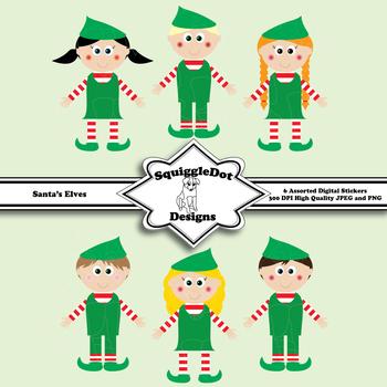 Santa's Elves Christmas Clip Art