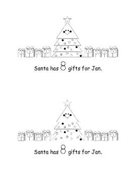 Santa's Gifts: FREE Mini Book