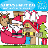 Christmas Clipart: Santa's Happy Day Clipart